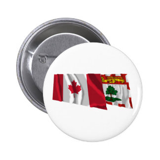 Canada Prince Edward Island Waving Flags Pins