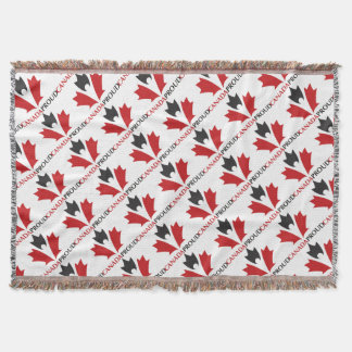 Canada Proud! Throw Blanket