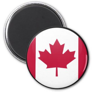 Canada quality Flag Circle 6 Cm Round Magnet