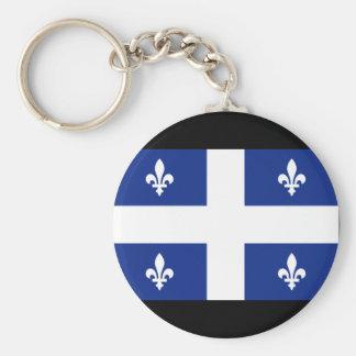 Canada Quebec Flag Basic Round Button Key Ring