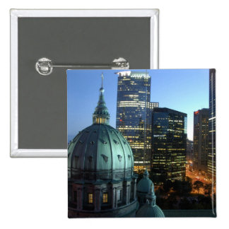 Canada, Quebec, Montreal. Downtown Montreal, 15 Cm Square Badge