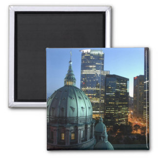 Canada, Quebec, Montreal. Downtown Montreal, Square Magnet