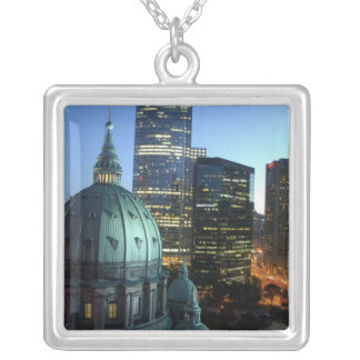 Canada, Quebec, Montreal. Downtown Montreal, Square Pendant Necklace