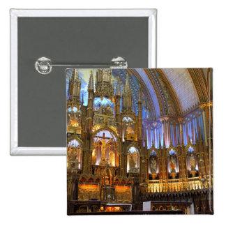 Canada,  Quebec,  Montreal. Interior of Notre 15 Cm Square Badge
