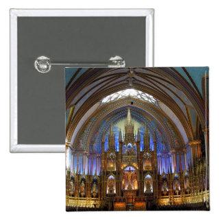 Canada,  Quebec,  Montreal. Interior of Notre 2 15 Cm Square Badge