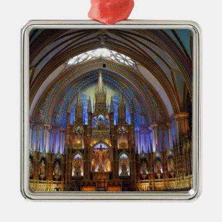 Canada,  Quebec,  Montreal. Interior of Notre 2 Metal Ornament