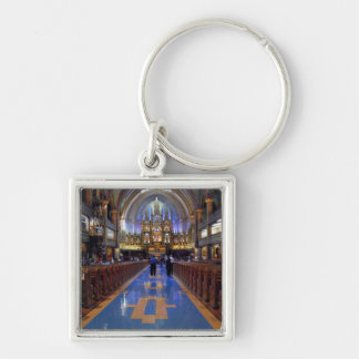 Canada,  Quebec,  Montreal. Interior of Notre 3 Silver-Colored Square Key Ring