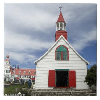 Canada,  Quebec,  Tadoussac. Petite Chapelle, Large Square Tile