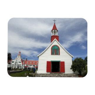 Canada,  Quebec,  Tadoussac. Petite Chapelle, Rectangular Photo Magnet