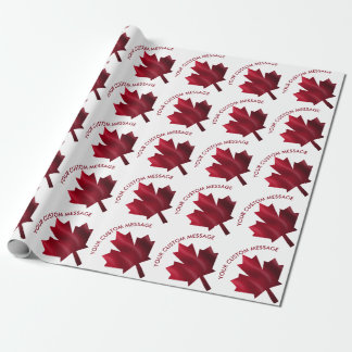Canada Red Maple Leaf Custom Wrapping Paper