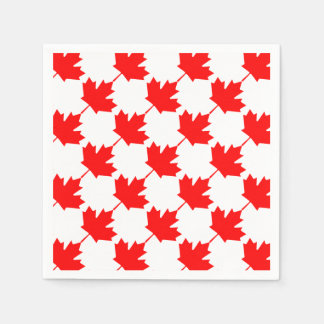 Canada Red Maple Leaf Pattern Disposable Napkin