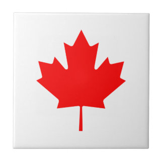 Canada Red Maple Leaf Tile