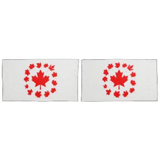Canada Red Maple Leaves Unique Pillowcase
