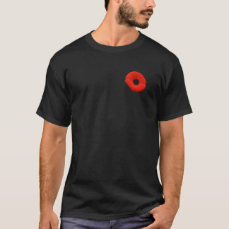 Canada Rememberance Day Red Poppy Flower T-shirt