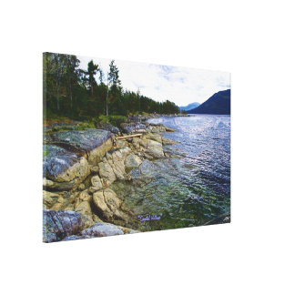 Canada s BC Coastal Scene Art Poster Canvas Print