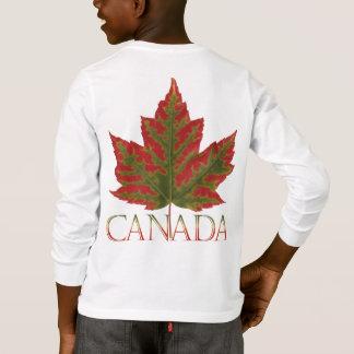 Canada Shirts Kid's Autumn Canada Maple Leaf Shirt