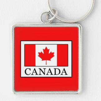 Canada Silver-Colored Square Key Ring