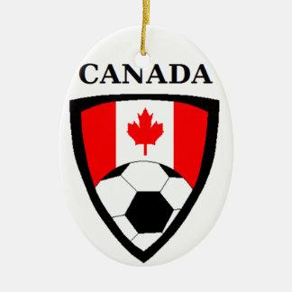 Canada Soccer Ceramic Ornament