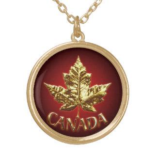 Canada Souvenir Necklace Canada Gold Maple Leaf