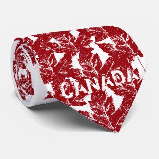Canada Souvenir Tie Red Vintage Maple Leaf Tie