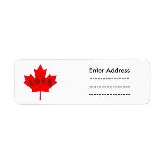 Canada Sticker labels Custom Canada Day love