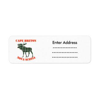 Canada Sticker labels moose Cape Breton