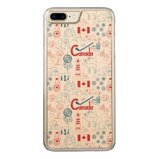 Canada   Symbols Pattern Carved iPhone 8 Plus/7 Plus Case