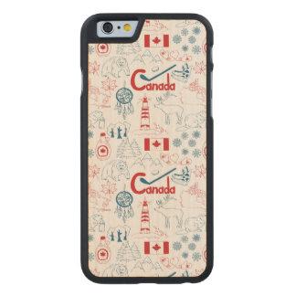 Canada | Symbols Pattern Carved® Maple iPhone 6 Slim Case