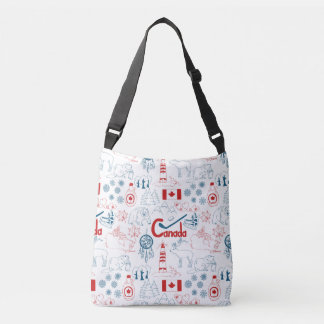 Canada | Symbols Pattern Crossbody Bag