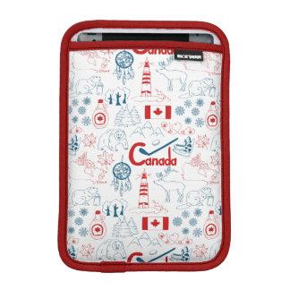 Canada | Symbols Pattern iPad Mini Sleeve
