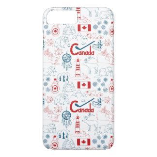 Canada   Symbols Pattern iPhone 8 Plus/7 Plus Case