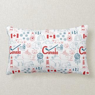 Canada | Symbols Pattern Lumbar Pillow