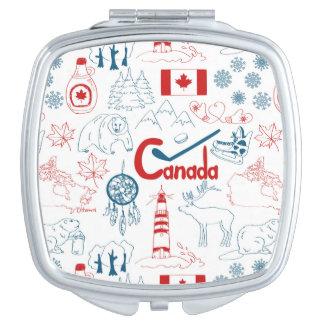 Canada   Symbols Pattern Makeup Mirror
