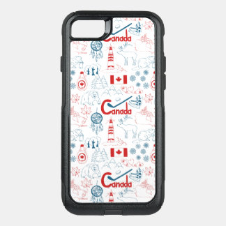 Canada | Symbols Pattern OtterBox Commuter iPhone 8/7 Case