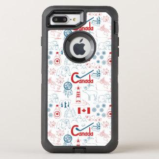 Canada   Symbols Pattern OtterBox Defender iPhone 8 Plus/7 Plus Case