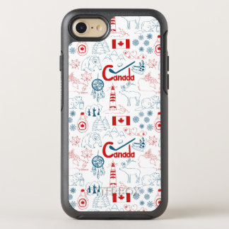 Canada | Symbols Pattern OtterBox Symmetry iPhone 8/7 Case