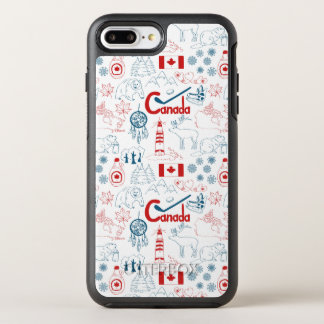 Canada   Symbols Pattern OtterBox Symmetry iPhone 8 Plus/7 Plus Case