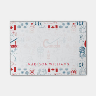 Canada | Symbols Pattern Post-it Notes