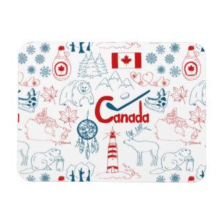 Canada | Symbols Pattern Rectangular Photo Magnet