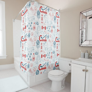 Canada   Symbols Pattern Shower Curtain