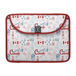 Canada | Symbols Pattern Sleeve For MacBooks
