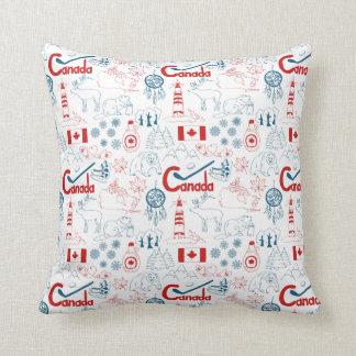 Canada | Symbols Pattern Throw Pillow