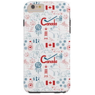 Canada | Symbols Pattern Tough iPhone 6 Plus Case