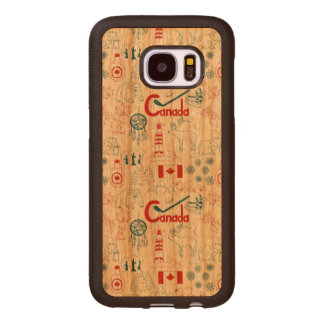 Canada | Symbols Pattern Wood Samsung Galaxy S7 Case