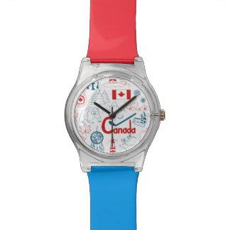 Canada | Symbols Pattern Wrist Watch