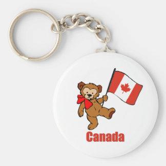 Canada Teddy Bear Keychain
