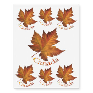Canada Temporary Tattoo Canada Maple Leaf Souvenir