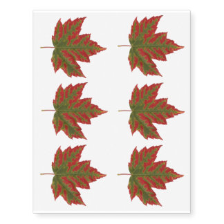 Canada Temporary Tattoo Maple Leaf  Souvenir