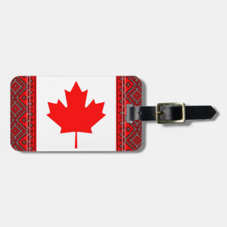 Canada Ukraine Flags Luggage Tag