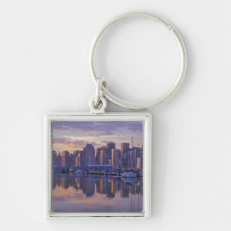 Canada, Vancouver, British Columbia. Vancouver Silver-Colored Square Key Ring